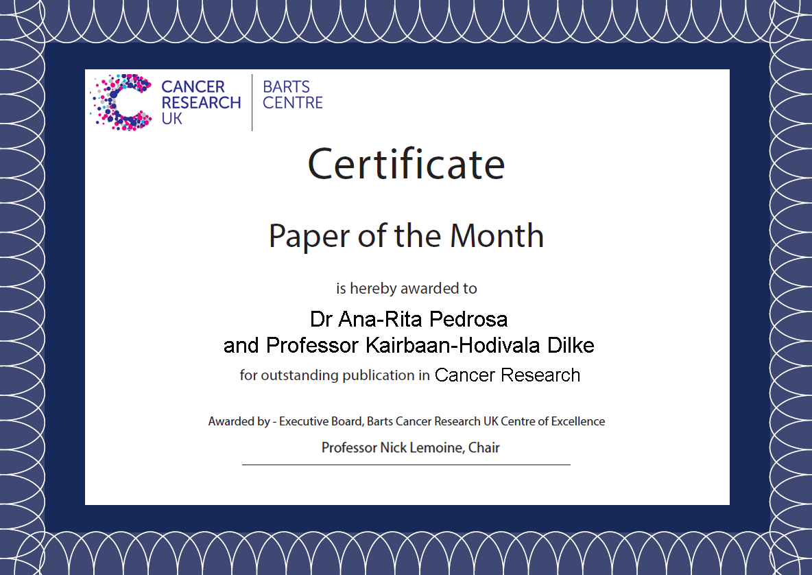 Paper of the Month Certificate Kebs
