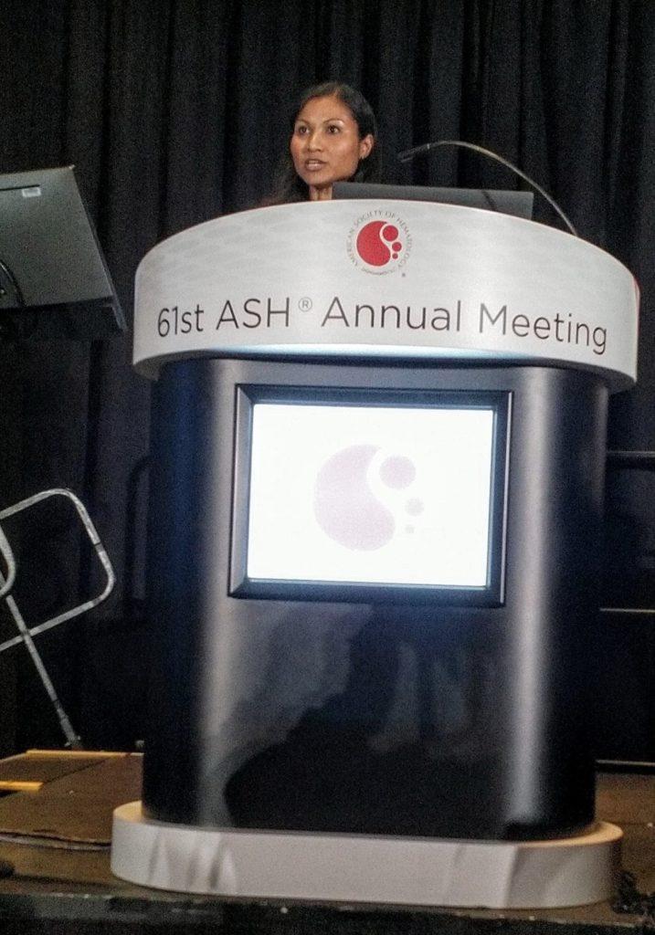 Dr Okosun at ASH 2019.
